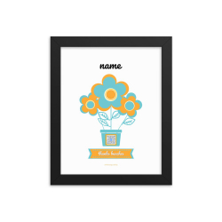 framed personalized thank bunches art print