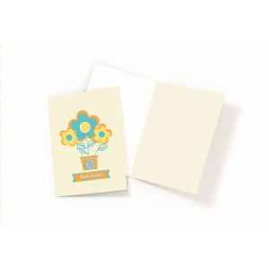 thank bunches business card and envelope on white background