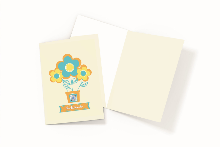 thank you for your business card on white