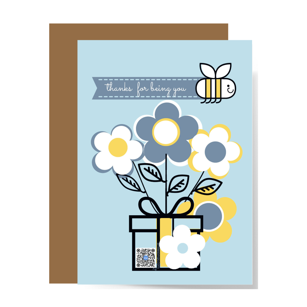 thank you card that sings and gives back