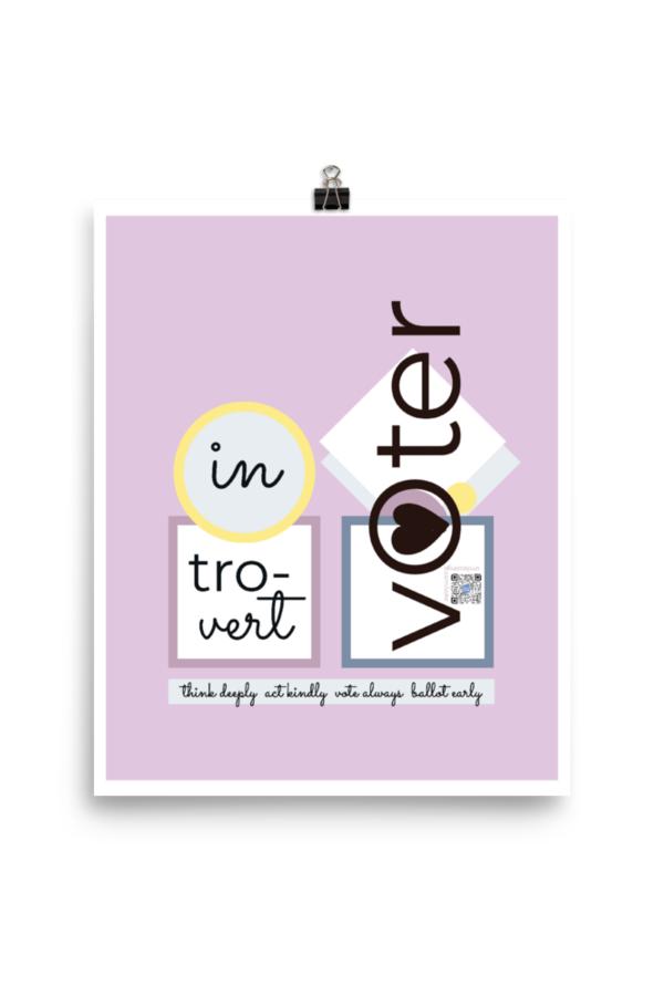introvert voter cotton paper art print
