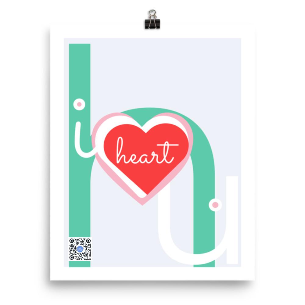 i heart you elephant print