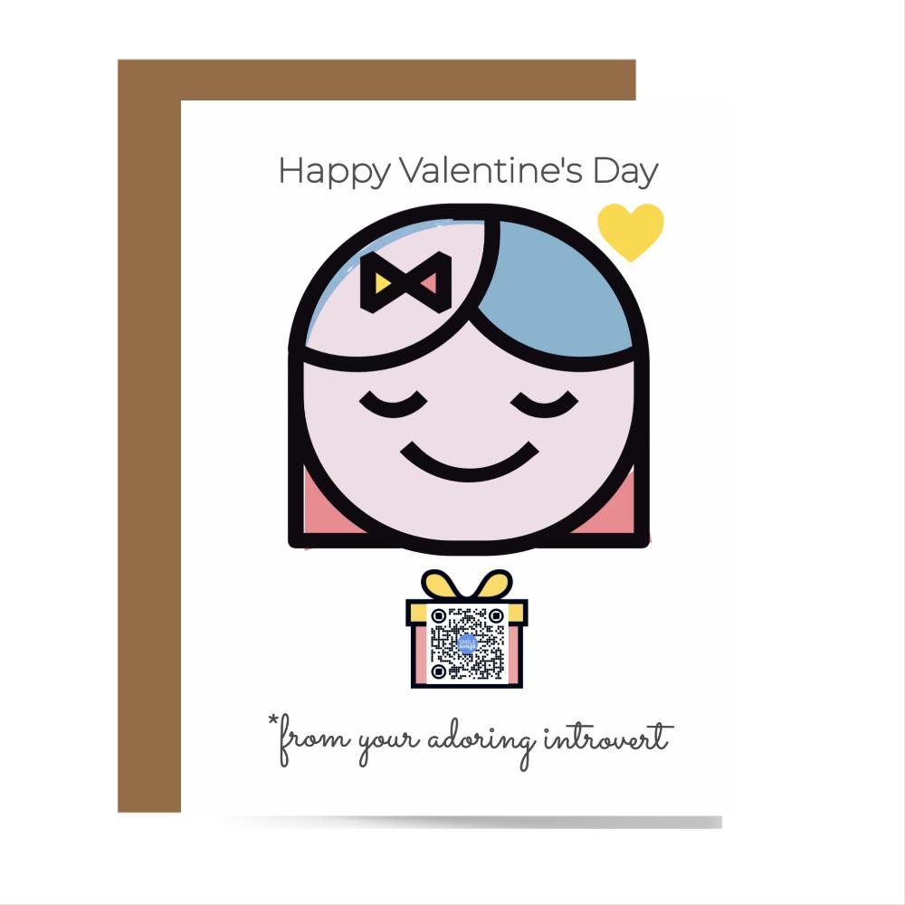 introvert valentine card
