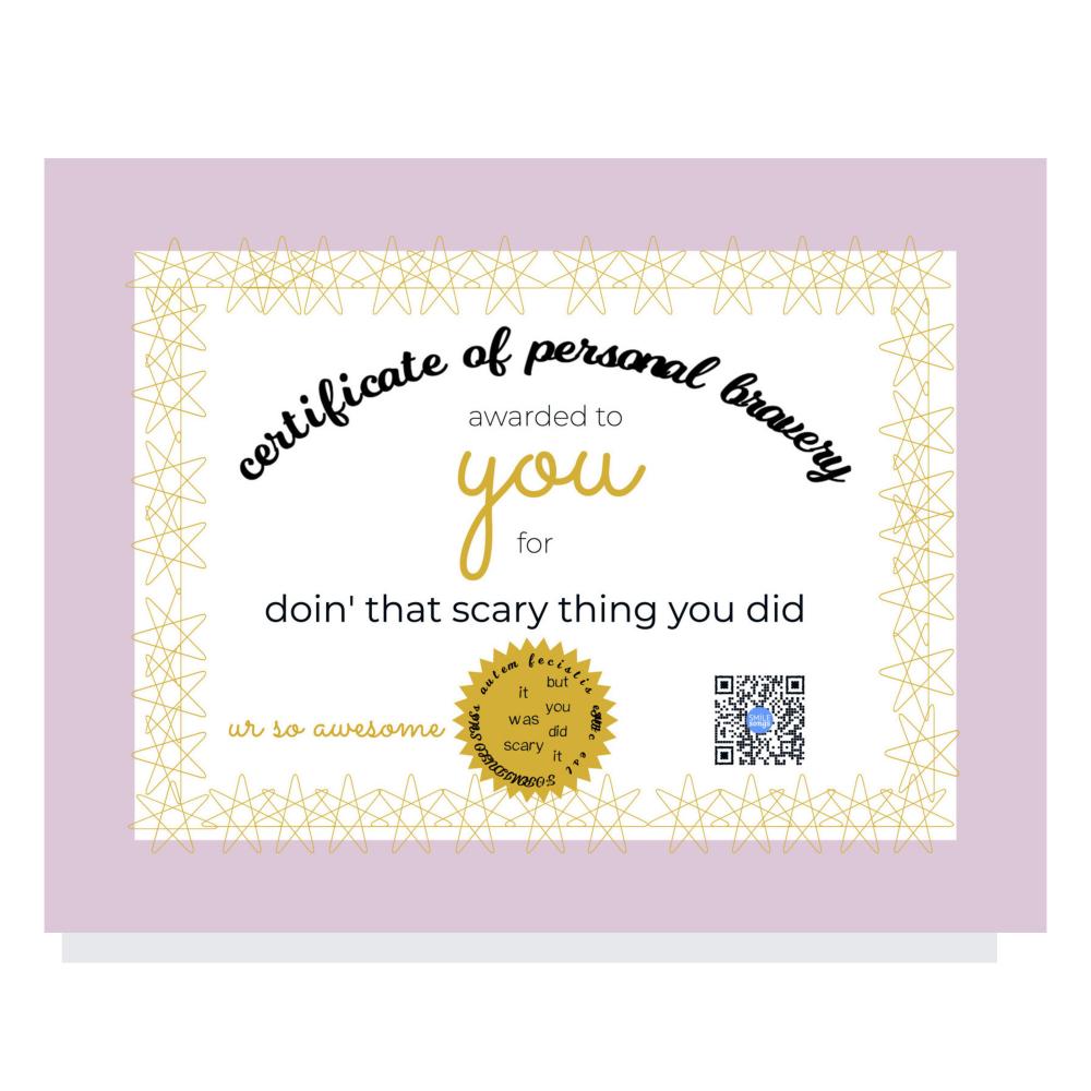 bravery certificate magnet