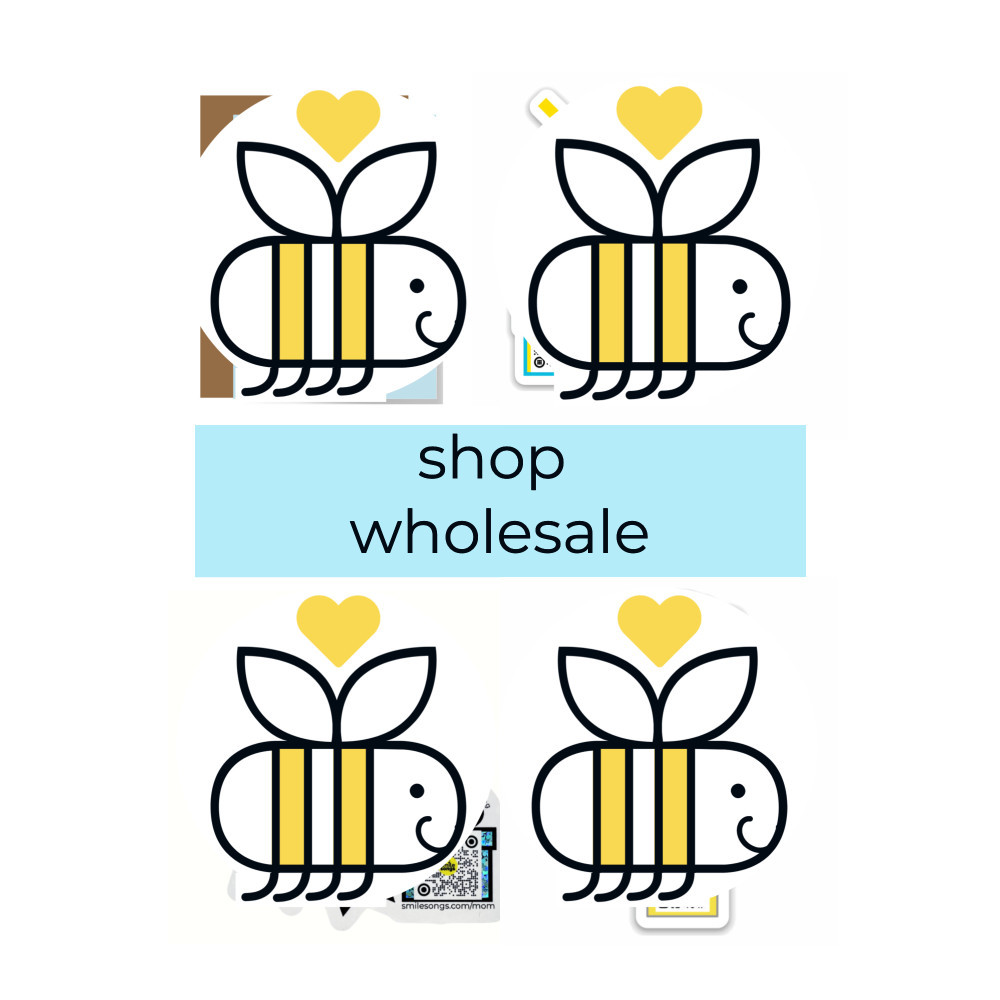 reycled paper greeting cards and gifts that sing with qr code wholesale shop featuring signature honey bee design