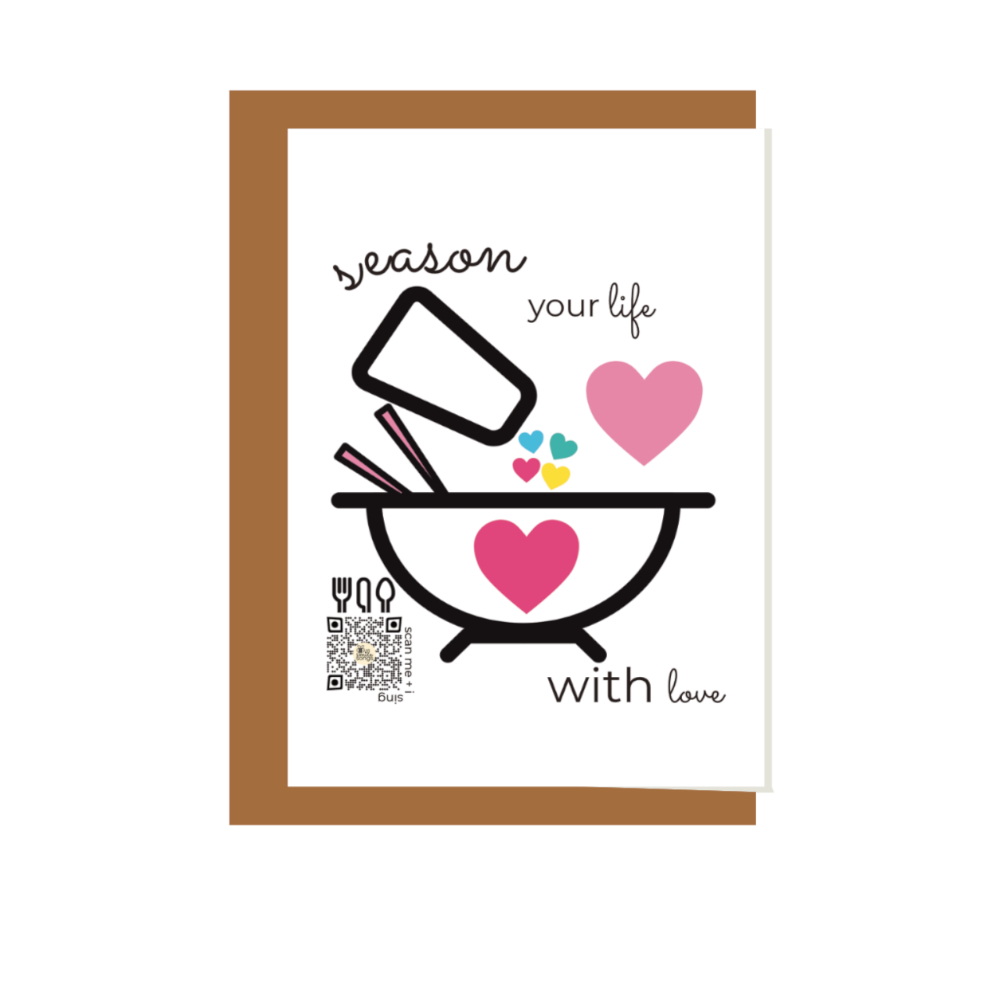 season your life with love just because singing greeting card