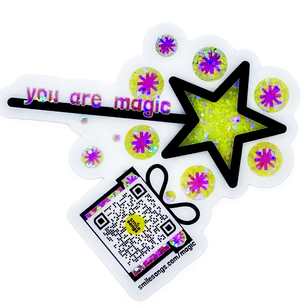 you are magic diecut singing sticker smile songs web use